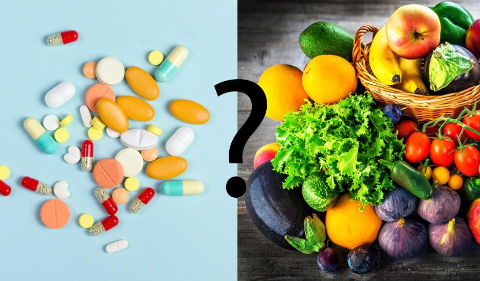 Vitamintabletten vs. natürliche Nahrungsmittel